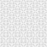 Seamless white 3D pattern, arabic motif,  east ornament. Indian ornament,  EPS 10. Endless texture can be used for wallpaper, pattern fills, web page Royalty Free Stock Images
