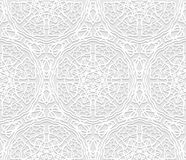 Seamless white 3D pattern, arabic motif, east ornament, indian ornamen. T, vector EPS 10. Endless texture can be used for wallpaper, pattern fills, web page royalty free illustration