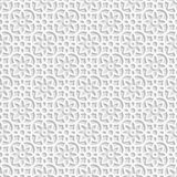 Seamless white 3D pattern, arabic motif,  east ornament, indian ornament, vector Royalty Free Stock Photos
