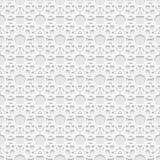 Seamless white 3D pattern, arabic motif,  east ornament Royalty Free Stock Images
