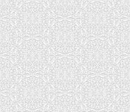 Seamless white 3D pattern, arabic motif,  east ornament Royalty Free Stock Photo