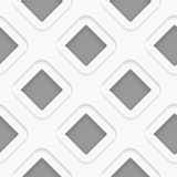 Seamless white diagonal double square Stock Image