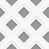 Seamless white diagonal double square Stock Image