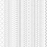 Seamless white embroidery pattern. Royalty Free Stock Photo