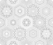 Seamless white embroidery pattern. Stock Photo
