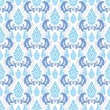 seamless white för blå prydnad Arkivbild