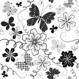 seamless white för blom- modell royaltyfri illustrationer