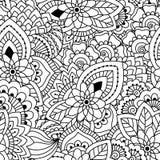 seamless white för svart modell Stock Illustrationer