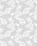 Seamless White Floral Lace Pattern Royalty Free Stock Photos