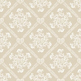Seamless white floral pattern. Illustration Stock Photography