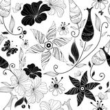 Seamless White Floral Pattern Stock Photography