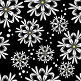 Seamless White Floral Pattern Stock Photos
