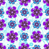 Seamless white floral pattern Royalty Free Stock Image