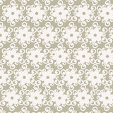 Seamless white flower lace pattern vector Stock Images