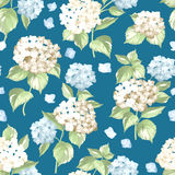 Seamless white flowers pattern. Royalty Free Stock Photos
