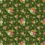 Seamless white flowers pattern green background. Seamless white flowers pattern green specks background Stock Photography