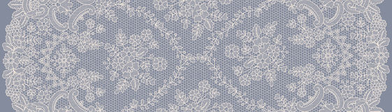 Seamless white lace. Seamless beige and gray lace background with floral pattern Stock Photos