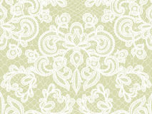 Seamless white lace Stock Images