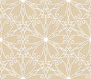 Seamless white lace pattern Stock Photos