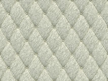 Seamless white leather upholstery pattern, 3d illustration Royalty Free Stock Images