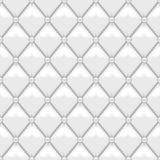 Seamless White Leather Uplholstery. White vector seamless white leather upholstery texture Royalty Free Stock Photography
