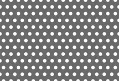 Seamless White Pattern Dot on Grey Background royalty free illustration