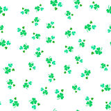 Seamless white pattern of leaf clover. St.Patrick s Day. Vector illustration Royalty Free Stock Photos
