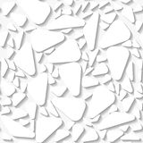 Seamless white pattern with organic trinagles Royalty Free Stock Images