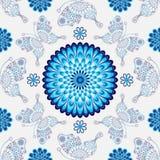 Seamless white pattern with vintage Royalty Free Stock Photos