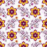Seamless white-pink floral pattern Royalty Free Stock Image