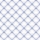 Seamless white quilted background with pins. Stock Photo