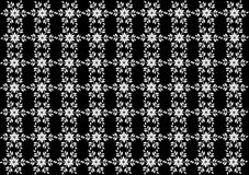 Seamless white snowflakes pattern on background. Christmas seamless pattern from white snowflakes on black background Stock Photography