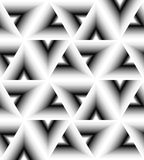 Seamless White  Triangle Pattern Gently Shimmering from  light to dark. Visual Volume Effect. Polygonal Geometric Abstract Background. Suitable for textile Royalty Free Stock Photo