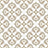 Seamless white vintage pattern Stock Photos