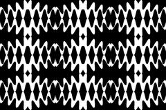 Seamless White Waves Pattern on Black Background. Geometric Abstract Background.  Suitable for textile, fabric, packaging and web Royalty Free Stock Photo