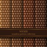 Seamless Wicker Pattern Set Stock Image