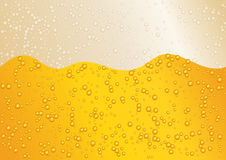 Seamless wide horizon beer background for Oktoberfest. Golden color. Stock Images