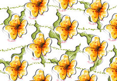 Seamless wild flower pattern Royalty Free Stock Photography