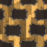 Seamless Wild West Labels Pattern. Vector Stock Image