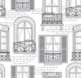 Seamless windows seamless pattern vector illustration