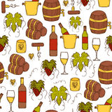 Seamless wine background Royalty Free Stock Photo