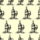 seamless wine pattern background vector Royalty Free Stock Photography