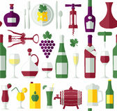 Seamless wine pattern. Stock Images