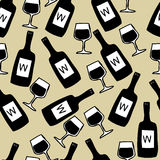 Seamless wine pattern Royalty Free Stock Photography