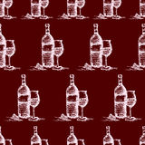 seamless wine pattern  vector Stock Photography
