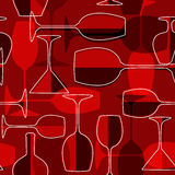 Seamless wineglass background Royalty Free Stock Photos