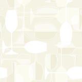 Seamless wineglass background Stock Photos