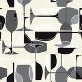 Seamless wineglass background Royalty Free Stock Photo