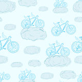 Seamless winged bicycles Royalty Free Stock Photography