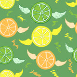 Seamless winged citrus Royalty Free Stock Images